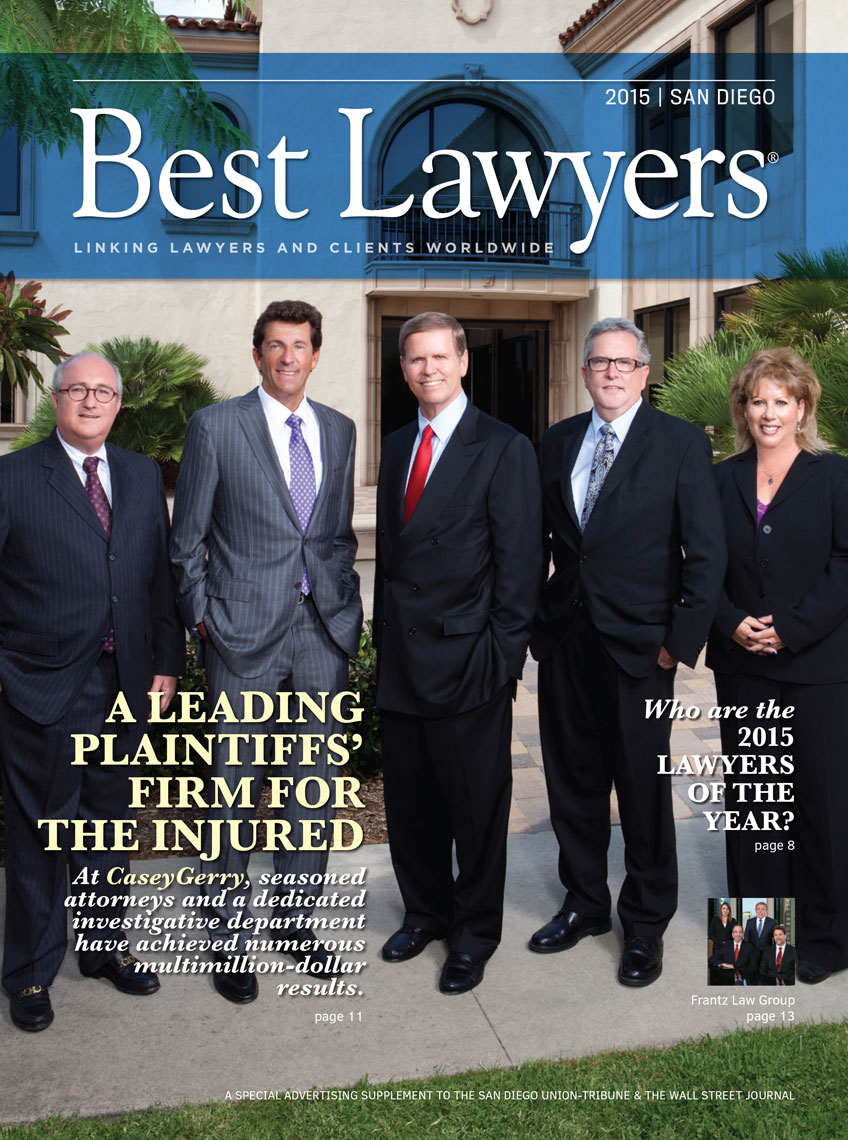 Corporate Photographer Group Shots San Diego Best Lawyers Magazine Cover