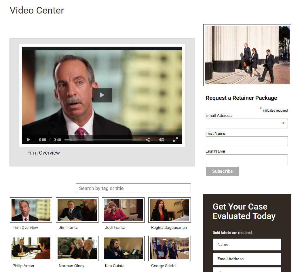 Corporate Video Production San Diego Frantz Law Group Law Firm