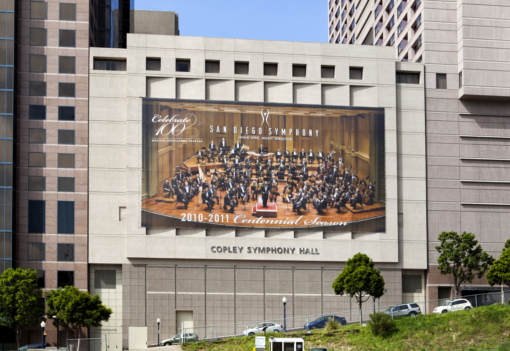 Group Photograph San Diego Symphony Banner Advertising