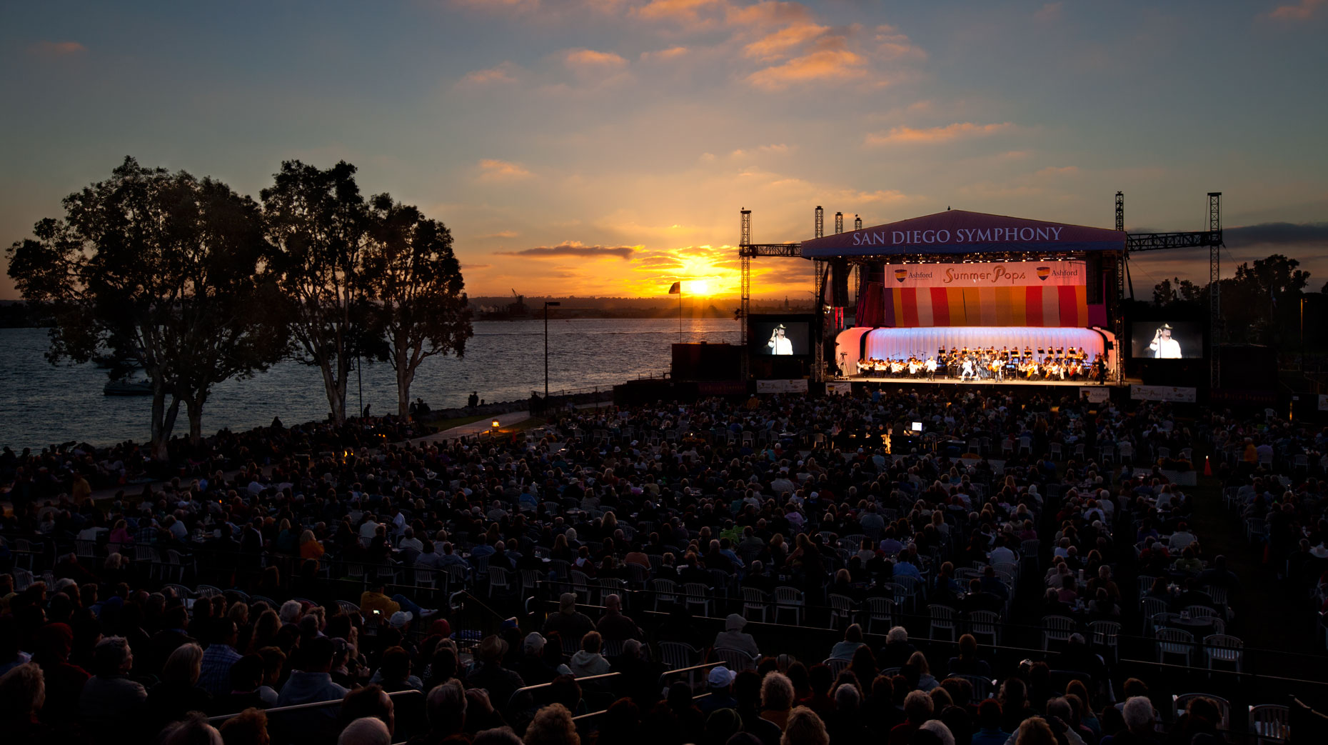 Advertising Photographer San Diego Symphony Summer Pops Concert Sunset