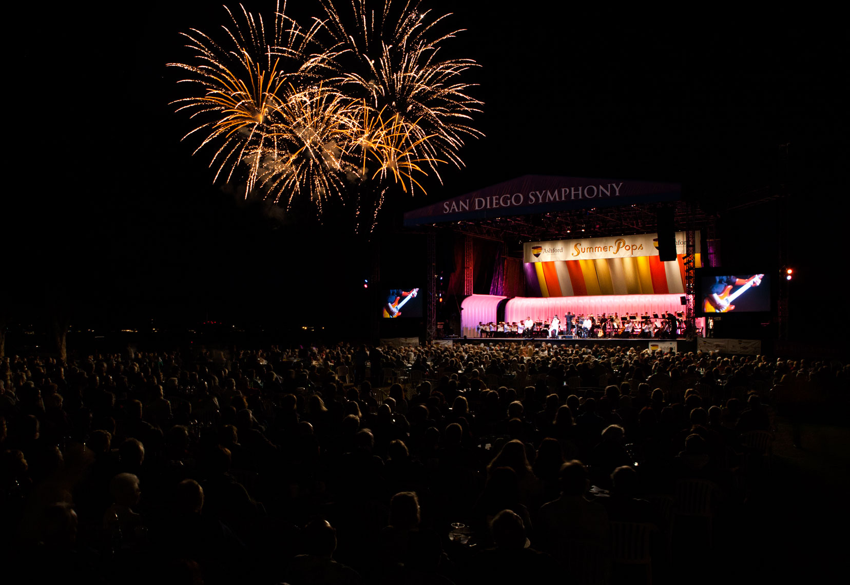 Advertising Photography San Diego Symphony Summer Pops Concert Fireworks
