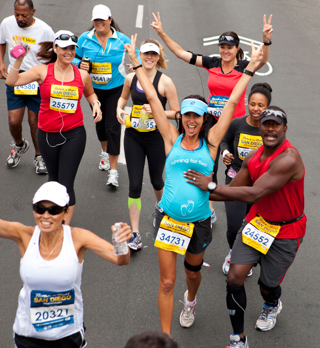 Event Photographer San Diego Rock 'n' Roll Marathon Competitor Group