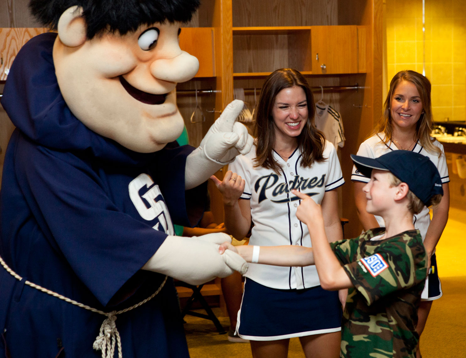 Event Photographers San Diego Padres Baseball Children BofA Charitable Outreach