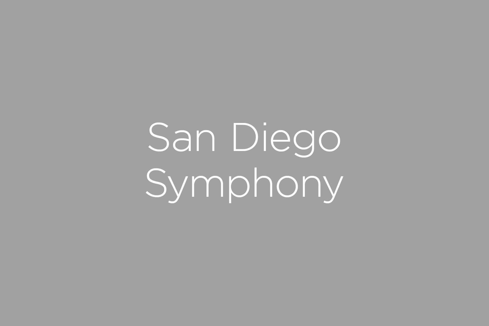 San Diego Symphony Photography Gallery